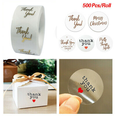 Decorative Sealing Stickers Party OLOPE Christmas Stickers Christmas Roll Pack Sticker 500pcs Round Adhesive Labels Kraft Paper Wedding Family Stickers