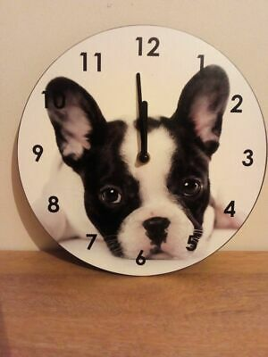 Working Dog Wall Clock with battery  25 x 25cms