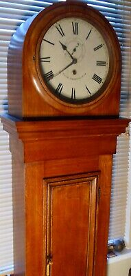 "Antique  Oak Regulator "" Birmingham"" Drum Head Longcase / Grandfather Clock"