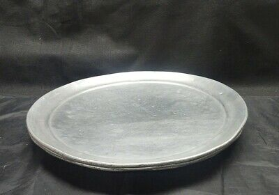 "Lot of 3 17"" Standard Weight Aluminum Coupe Pizza Pan"