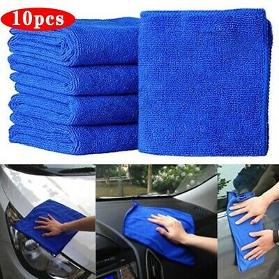 10 x Large Micro-fibre Cleaning Auto Car Bike Detailing Soft Cloths Wash Duster