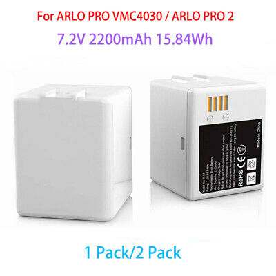 Arlo Go and Arlo Security Light Batteries Arlo Pro 2 and Dual LCD Charger for Arlo Pro REYTRIC 2-Pack Rechargeable Battery Compatible with Arlo Pro Arlo Pro 2 VMA4400