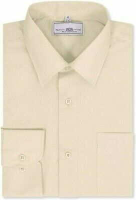 Boltini Italy Men's Collection Dress Shirts Long Sleeve Convertible Cuffs Ivory