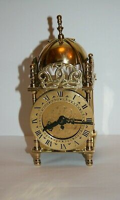 Vintage Lantern Clock made in England by S Smiths 1950s, 8 days,7 jewels
