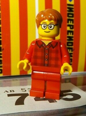 Lego City Male Glasses Minifigure Red Shirt from Ludo 40198 New