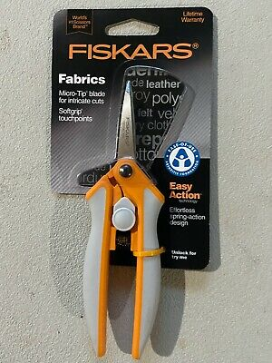 "NIP! Fiskars 6"" Easy Action Micro-Tip Fabric Scissors 9050 Arthritis Foundation"