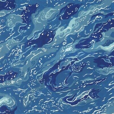 Nutex By The Sea Lighthouses Blue Fabric Per 1//4 Metre