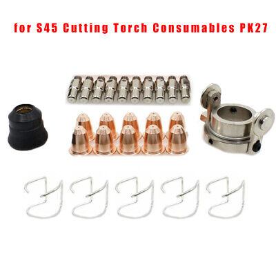 Plus Ret Cup 11PC Northern tool #275 #375 plasma consumables with S45 torch