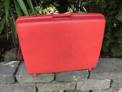 Authentic Vintage Red Suitcase