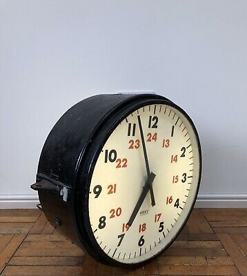 Vintage Antique Industrial Double Sided Factory Railway Gents Of Leicester Clock