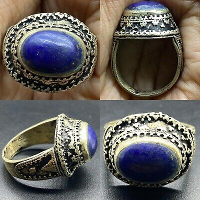 Silver Unique old lapis lazuli Lovely stone Ring