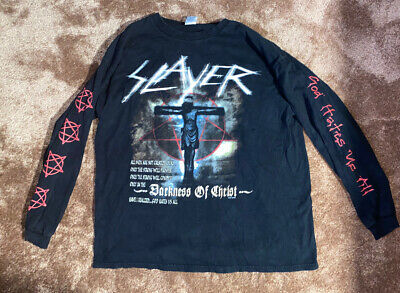Vintage XL Extra Large GRAIL God Hates Us All Slayer Darkness Of Christ Tour Tee