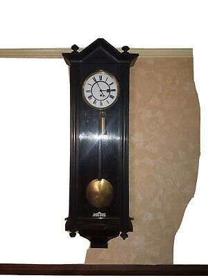 Antique ebonised vienna wall clock