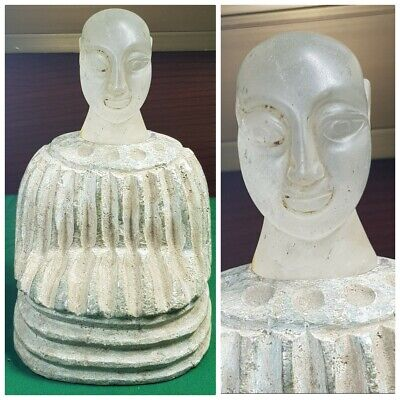 Ancient bactrian rare chloride and crystal composite statue