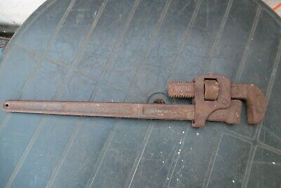 Vintage Record Stilson Pipe Wrench 24 Inch Rusty For Restoration