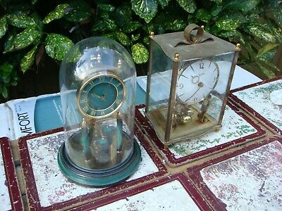 Vintage  German Anniversary 400 Day Dome Carriage Mantle Clock For Restoration