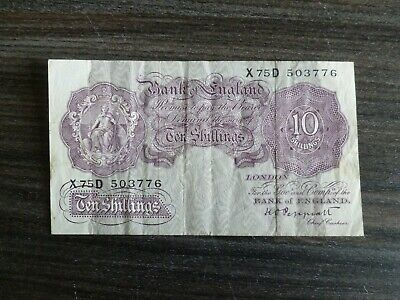 Extremely rare 1940 10 Shilling Note. 99p starting price.