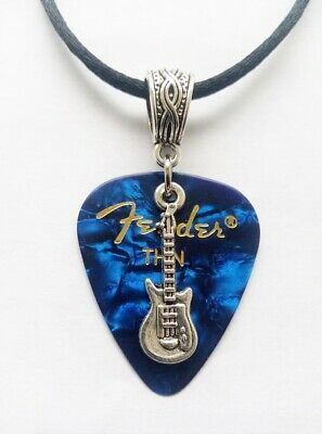 I Music guitar pick style pendant with coloured resin heart 2cm x 2.5cm love