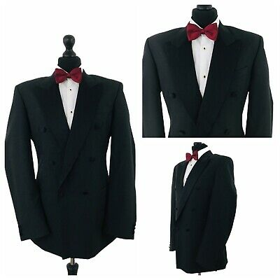 Mens Tuxedo Dinner Suit Jacket Double Breasted Chest 40 Long Black Formal Ye645 19 99 Picclick Uk