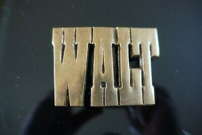 Vintage Solid Brass Walt Belt Buckle // Nm // Beautiful Patina