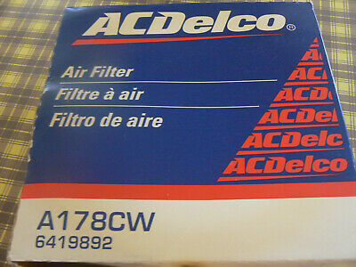Air Filter AC Delco A178CW  NEW OLD STOCK