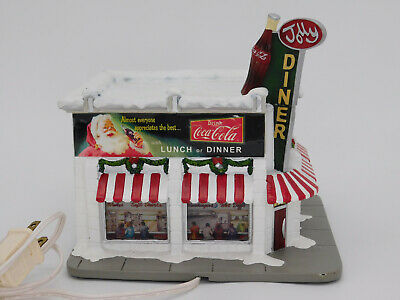 Hawthorne Coca Cola Holiday Village Jolly Diner Christmas Lighted Building Read