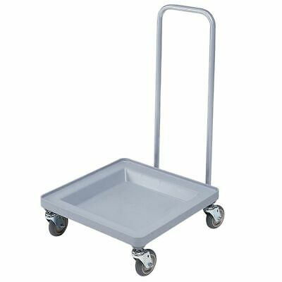 Cambro CDR2020H151 Camdollies Soft Gray Dish Rack Dolly w/ Handle