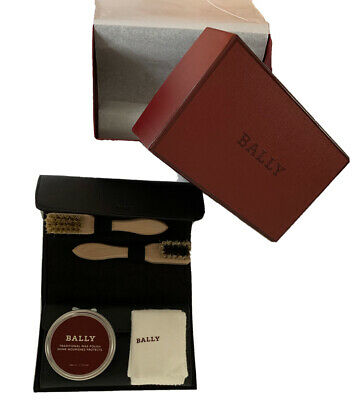 Bally Shoe Shine Kit With Leather Case - Very Rare