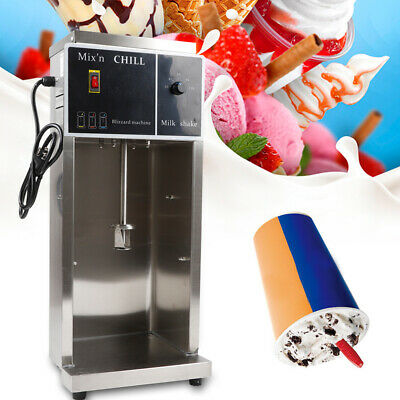 110V Auto Ice Cream Mixing Machine Maker Shaker Blender Mixer Stainless Steel US