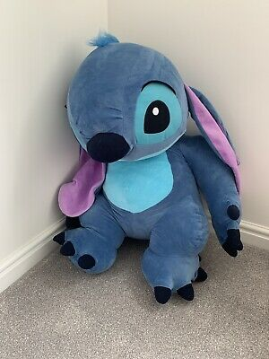 Flounder Stuffed Animal, Giant Stitch Stuffed Plush Soft Toy Disney Lilo Stitch Very Good Condition 30 00 Picclick Uk