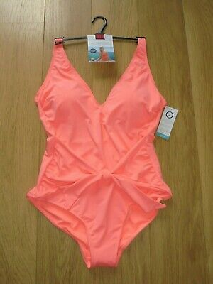 M/&S MARKS /& SPENCER AQUA MIX SWIMMING COSTUME WITH SECRET SLIMMING UK SIZE 24