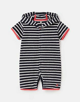 Joules Baby Boys Rockpooler Towelling Cover Up  - Navy White Stripe