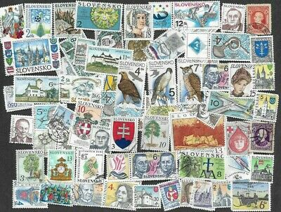 Slovakia stamps 150 all different stamps collection