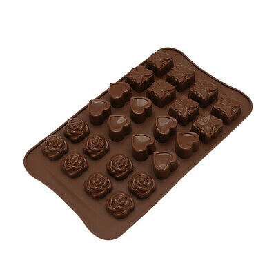 Silicone Mould Cake Chocolate Baking Mold Wax Melts Heart Hot Ice Rose X4S4