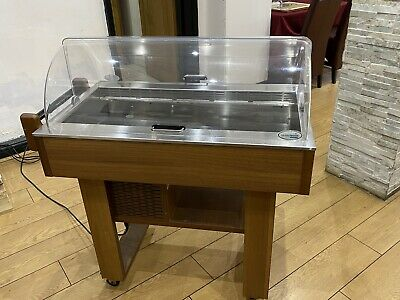 Commercial Refridgerated Dessert Cheese Trolley With Cover And Wheels RRP £2000