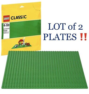 """Genuine LEGO Lot 2 32x32 Stud Large Green Baseplate Rounded Corners 3811 10""""X10"""""""