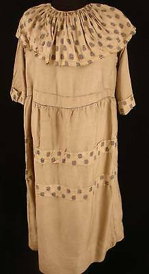 Very Rare French Early-Mid 19Th Century Silk Dress