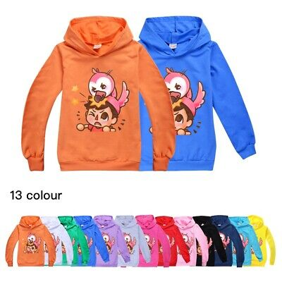 Kids Flamingo Flim Flam Autumn Hoodies Tops Children Long Sleeve Hoodes Tee Tops