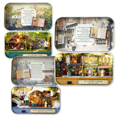 DIY Handcraft Miniature Project Kit Dolls House The Tin Box Theatre Series