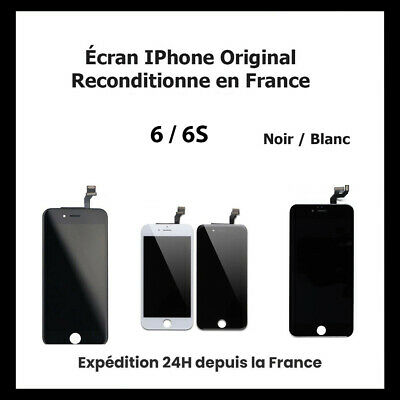 Ecran Pour Iphone 6 / 6S Lcd Vitre Tactile Noir / Blanc (Original Reconditionne)