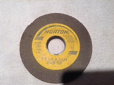 USA Made 3600 Rpm Norton 39C100-H8VK  7X1//2X1-1//4 Surface Grinding Wheel