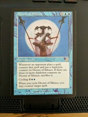 US ONLY 1x Decree of Silence SP-PL condition MTG Scourge Magic 4 available