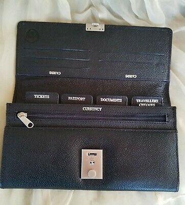 Black Leather Passport Case/Travel Organizer Wallet ~ NWOT ~ Coats