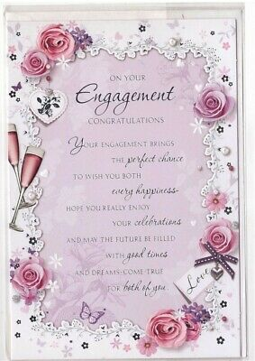 Brand New You Re Engaged Congratulations To You Both Greeting Card With Envelope 1 99 Picclick Uk