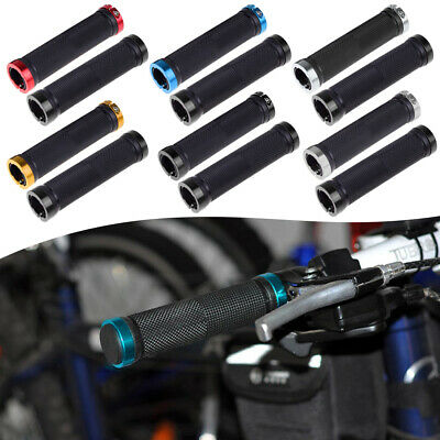 Sinz Lock on Bicycle  Handlebar Grips Youth Size 100 MM BLACK locking clamps