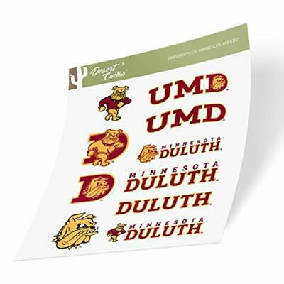 Sheet Type 3-1 University of Minnesota Duluth UMD Bulldogs NCAA Sticker Vinyl Decal Laptop Water Bottle Car Scrapbook
