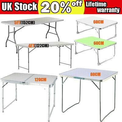 Aluminum Portable Adjustable Folding Table Camping Outdoor Picnic Party 6 Size