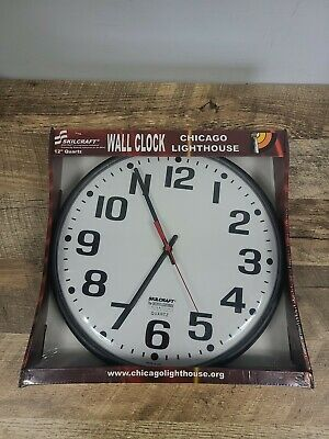 Chicago Lighthouse 12 Quartz Classic Wall Clock Skilcraft Made In Usa New 29 99 Picclick