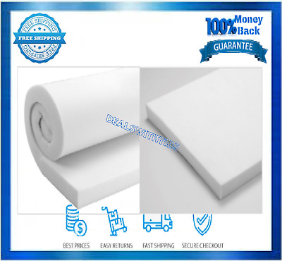THICK MULTIPURPOSE FOAM 3 In Upholstery Cushion Padding Sheet Craft Heavy Duty