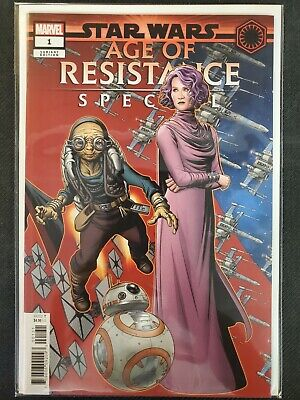 Star Wars Age of Resistance Special 1B Zircher Variant NM 2019 Stock Image